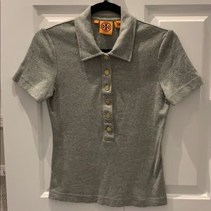 VGUC Tory Burch Grey Cotton Polo Shirt